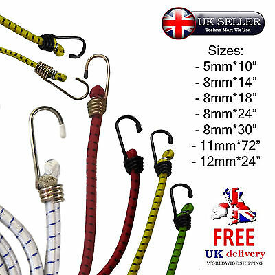 Assorted Octopus Elastic Straps Bungee Ropes Tension Cord Hooks Car Bike Luggage
