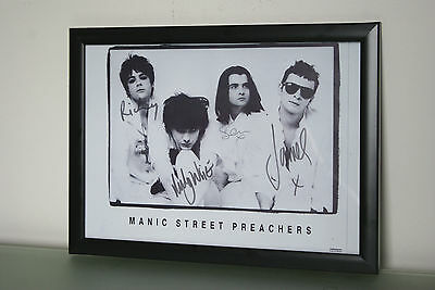 MANIC STREET PREACHERS- 1991 signed FRAMED promotion picture incl richey