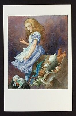 Alice In Wonderland POSTCARD Lewis Carroll JOHN TENNIEL Court JURY BOX AW3