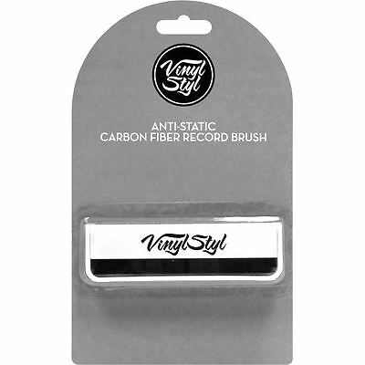Vinyl Style Anti Static Carbon Fibre Record Cleaning Brush Accessory New Sealed