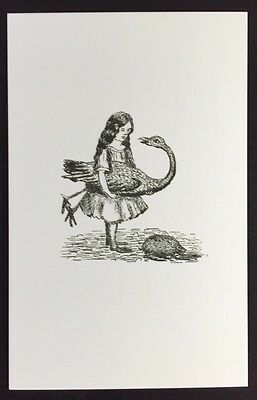 Alice In Wonderland POSTCARD Lewis Carroll SKETCH Croquet FLAMINGO AW8
