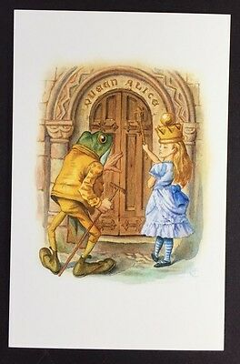 Alice In Wonderland POSTCARD Lewis Carroll JOHN TENNIEL Frog QUEEN ALICE AW9