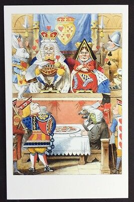 Alice In Wonderland POSTCARD Lewis Carroll JOHN TENNIEL Judge KING Queen AW11