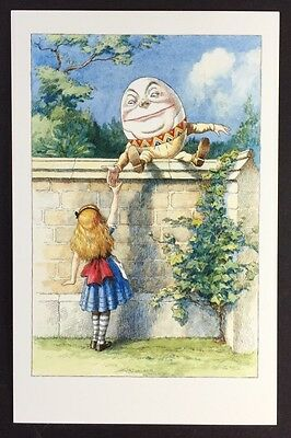 Alice In Wonderland POSTCARD Lewis Carroll JOHN TENNIEL Wall HUMPTY DUMPYY AW12