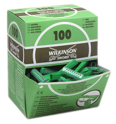 Wilkinson Sword Disposable Tattoo Razors box of 100 Skin Prep Razors - Shaving