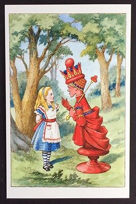 Alice In Wonderland POSTCARD Lewis Carroll JOHN TENNIEL Forest RED QUEEN AW14