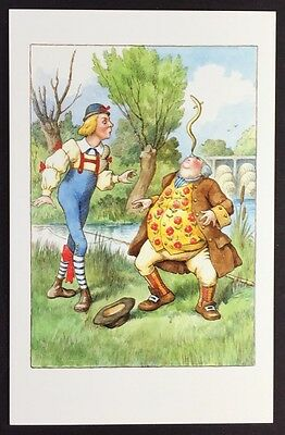 Alice In Wonderland POSTCARD Lewis Carroll JOHN TENNIEL Youth EEL BALANCING AW15
