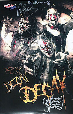 "Official TNA Impact Wrestling Hand Signed 11x17"" The Decay Poster"