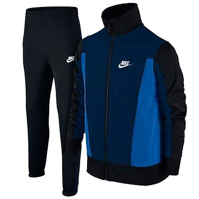 Boys Nike Tracksuit PAC POLY Age 6 to 15 years NEW Navy/Black/Royal Blue Junior