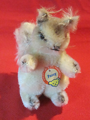 Vintage Steiff Possy squirrel, 1950s, tag but no ID button