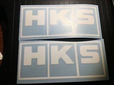2x HKS Decals - Diecut Vinyl Logo sticker - Aftermarket Parts Stickers JDM