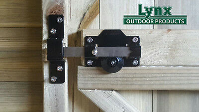 PERRY 50mm Long Throw Gate Lock ,Garden Gate/shed/door keyed one side Lockable