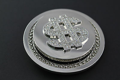 Spinning Dollar Belt Buckle Mirror Metal Stag Do Party Bling Novelty Funny Fun