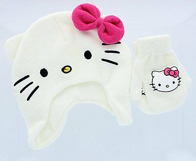 Hello Kitty Hat and Mittens Set
