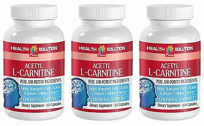 Increases Metabolic Rate - Acetyl L-Carnitine 500mg - L-Carnitine Pills 3B