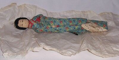 Vintage wwII 1945 NATIVE DOLL FROM ISLAND OF SAIPAN Handmade Japanese Lady