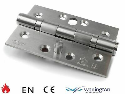 """4"""" x 3"""" 102mm Stainless Steel Twin Ball Bearing Security Pin Hinge with Dog Bolt"""