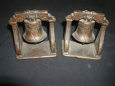 Pair of Liberty Bell Metal Bookends