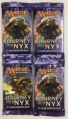 MTG Magic The Gathering Journey Into Nyx Factory Sealed Booster Pack Lot x4