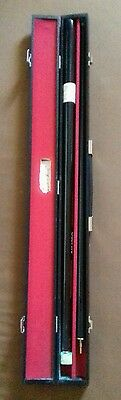Reggie Kray-Pool Cue. With Hand Written Prison Application Letter. 1999. Signed.