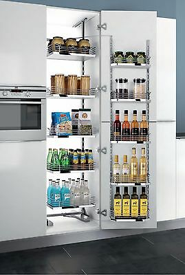 Kitchen Chrom Pull Out Tall Cabinet Pantry Storage Organizer Adjustable Shelves