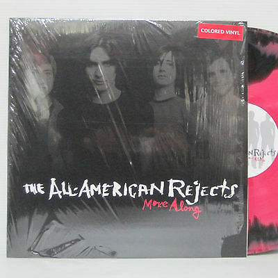 ALL AMERICAN REJECTS - MOVE ALONG LP 2005 ORIG BLACK & PINK SPLATTER VINYL MxPx