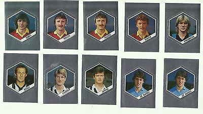 1987 PANINI Supersport 5 Football Silver stickers for poster Laudrup De Napoli