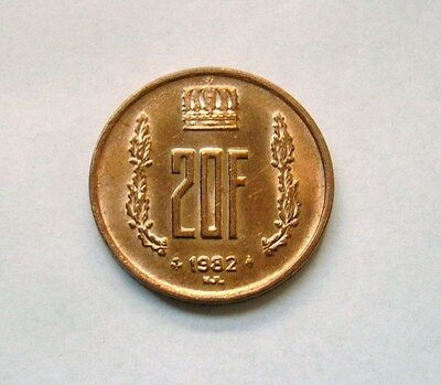 Luxembourg  20 Francs 1982, Ruler: Jean