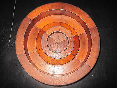 Vintage Wood bearing cover Sand Mold Pattern Original Industrial Mold