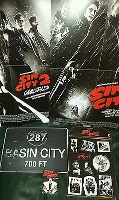 SIN CITY job lot - Playing Cards - Tin Street sign - Magnets set - 2 Posters