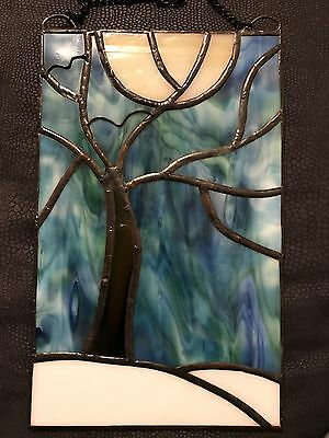 Winter Is Coming Stained Glass Panel Suncatcher Wall Decoration