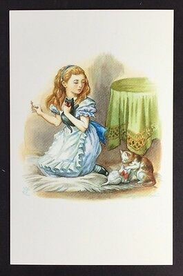 Alice In Wonderland POSTCARD Lewis Carroll TENNIEL Cats SNOWDROP Kitten AW18