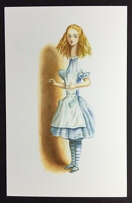 Alice In Wonderland POSTCARD Lewis Carroll JOHN TENNIEL Curiouser GROWING AW26
