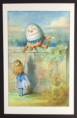 Alice In Wonderland POSTCARD Lewis Carroll JOHN TENNIEL Humpty Dumpty EGG AW28