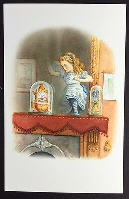 Alice In Wonderland POSTCARD Lewis Carroll JOHN TENNIEL Looking Glass Room AW30