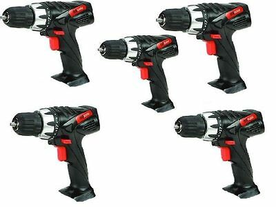 5x BULK LOT - Drill Master 18v Cordless Power Drills Bare Tool Replacement New