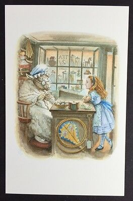 Alice In Wonderland POSTCARD Lewis Carroll JOHN TENNIEL Old Sheep SHOP AW33