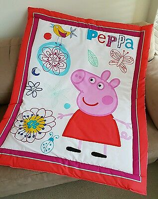 Peppa Pig Cot Quilt or Playmat Handmade NEW