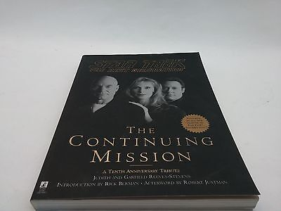 Star Trek TNG The Continuing Mission 10th Anniversary Tribute Book Paperback 1st