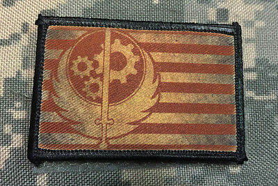 Brotherhood of Steel Flag Morale Patch Military Tactical Army Flag USA Hook