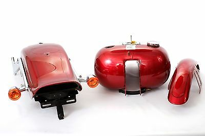Harley Softail Paint Set FXST 08-10 Red Fuel Tank, Front, & Rear Fenders