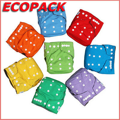 Ecopack Set Of 10 A 50 Layers Washable Baby With Inserts Size Unique Scalable