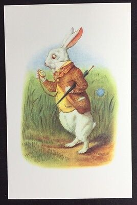 Alice In Wonderland POSTCARD Lewis Carroll JOHN TENNIEL White Rabbit WATCH AW47