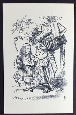 Alice In Wonderland POSTCARD Lewis Carroll JOHN TENNIEL Duchess FLAMINGO AW48