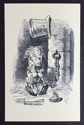 Alice In Wonderland POSTCARD Lewis Carroll JOHN TENNIEL Prison MAD HATTER AW50