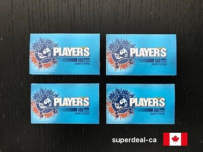 Players Blue Cigarette Rolling Papers - 4 Packs