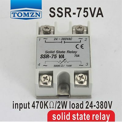 75VA SSR input 470KO/2W load 24-380V Voltage regulater Solid state regaly