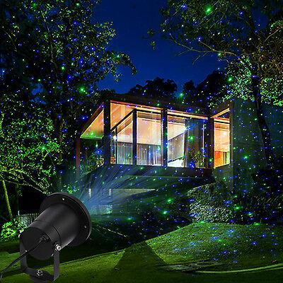 Outdoor Red Green Laser Lawn Light Christmas LED Projector w/Remote Control