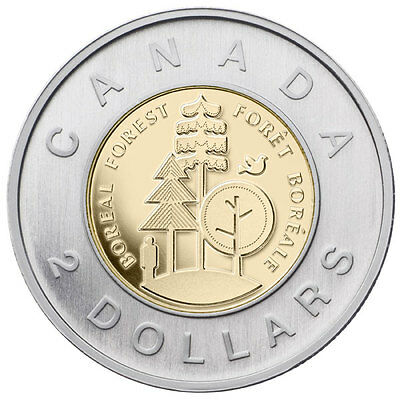 Canada - 2 Dollars - 2011 - Our Legendary Nature - Boreal Forest - UNC - Sealed