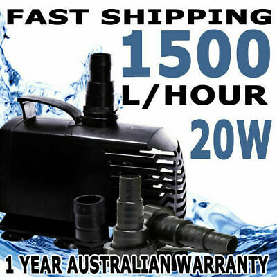 1500LPH Submersible Aqua Aquarium Fountain Pond Marine Water Air Pump Fish Tank